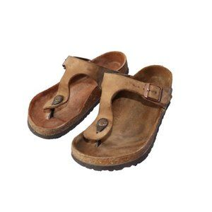 Birkenstock Gizeh Tan Thong Comfort Sandals
